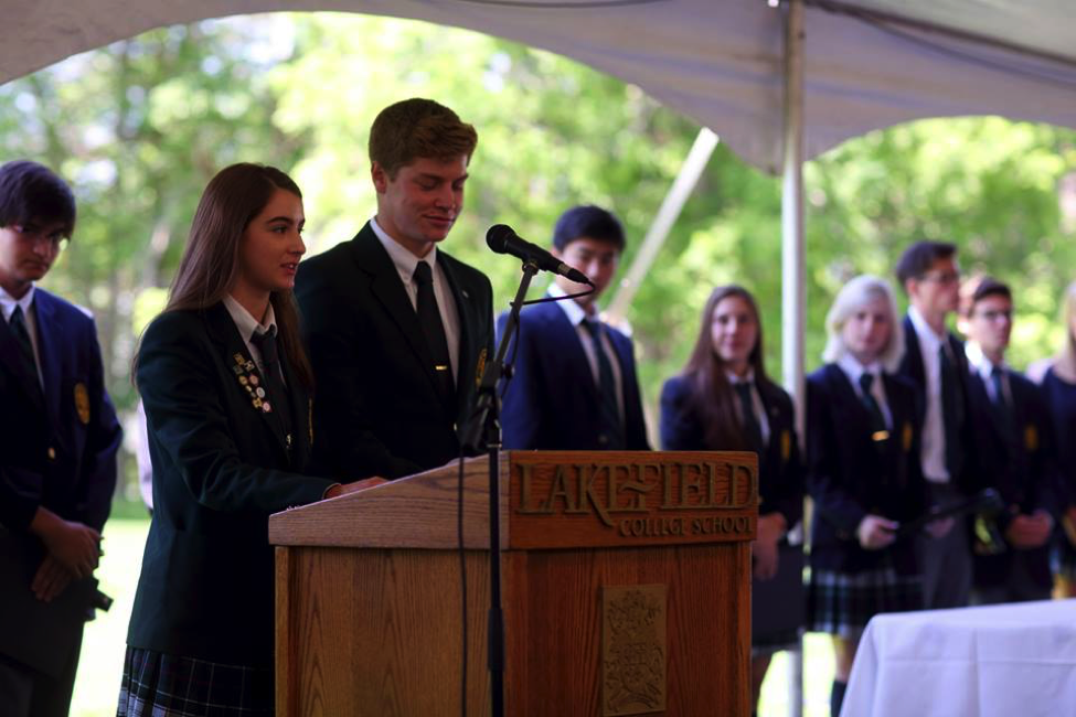 Lakefield students address the graduating class of 2015