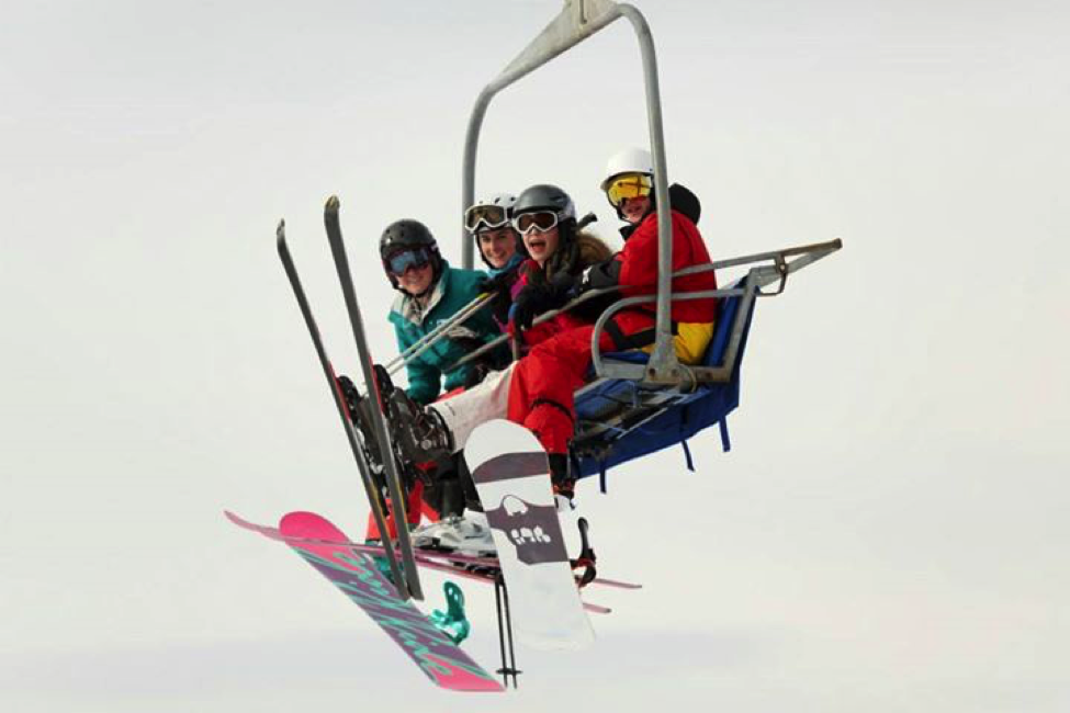 Students enjoy a day of skiing during one of LCS's many school trips.