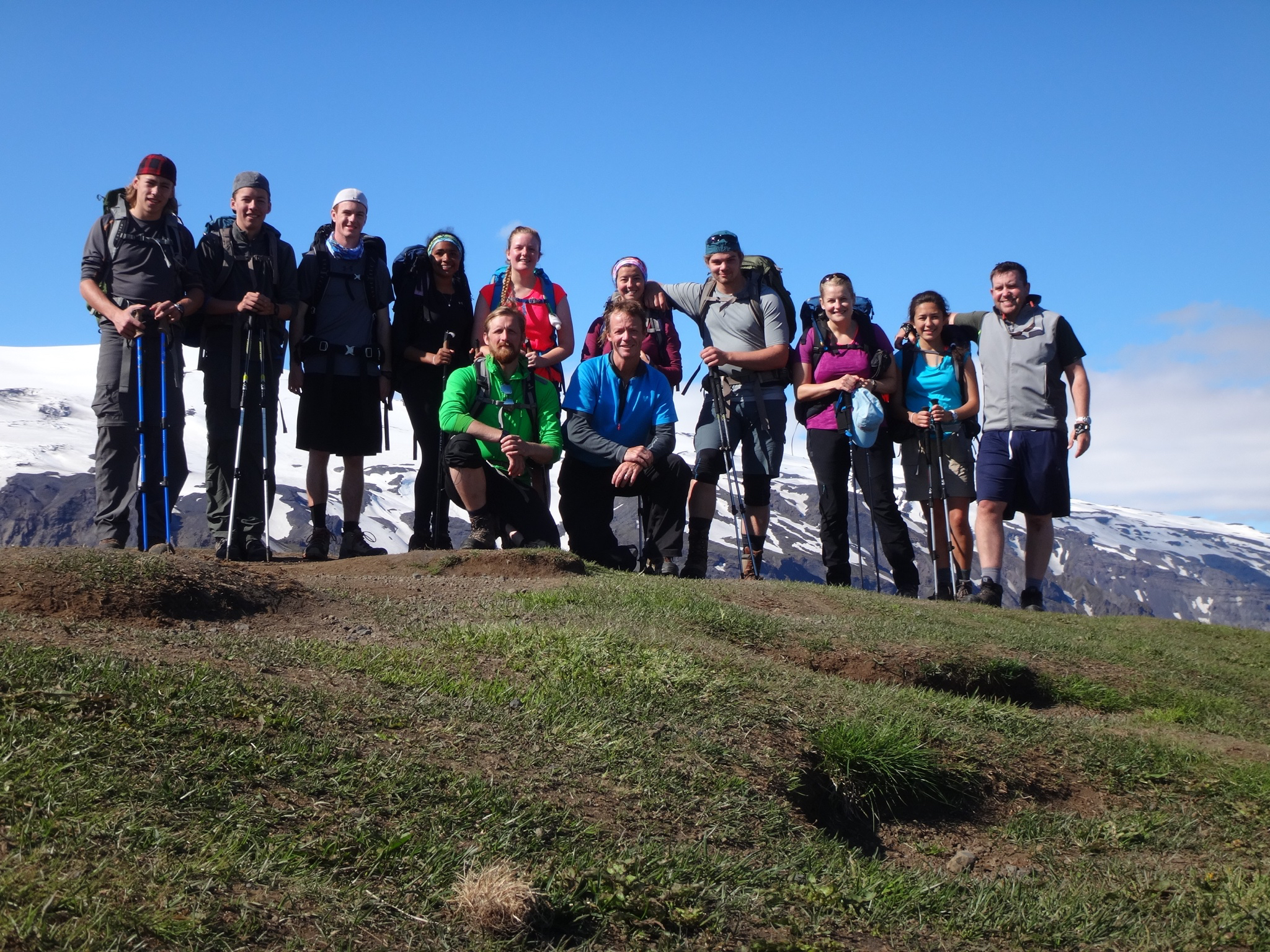 LCS students and their trip leaders on a global learning expedition in Iceland