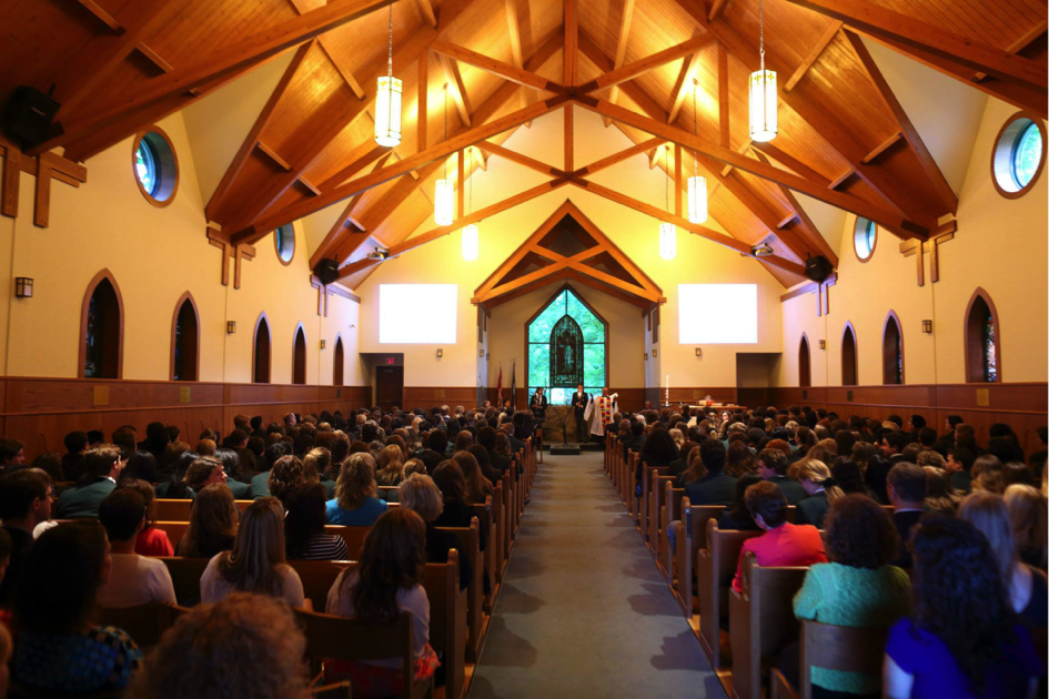 The LCS community gathers in the Alexander W. Mackenzie Memorial Chapel