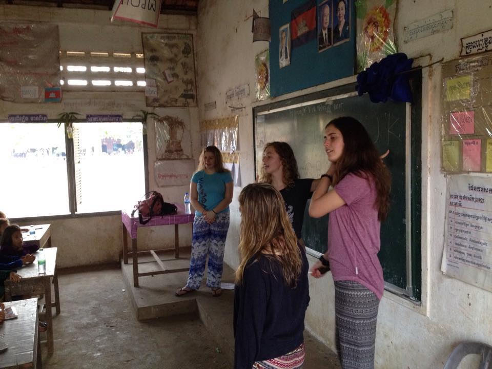 LCS students at the BSDA school in Kampong Cham, Cambodia