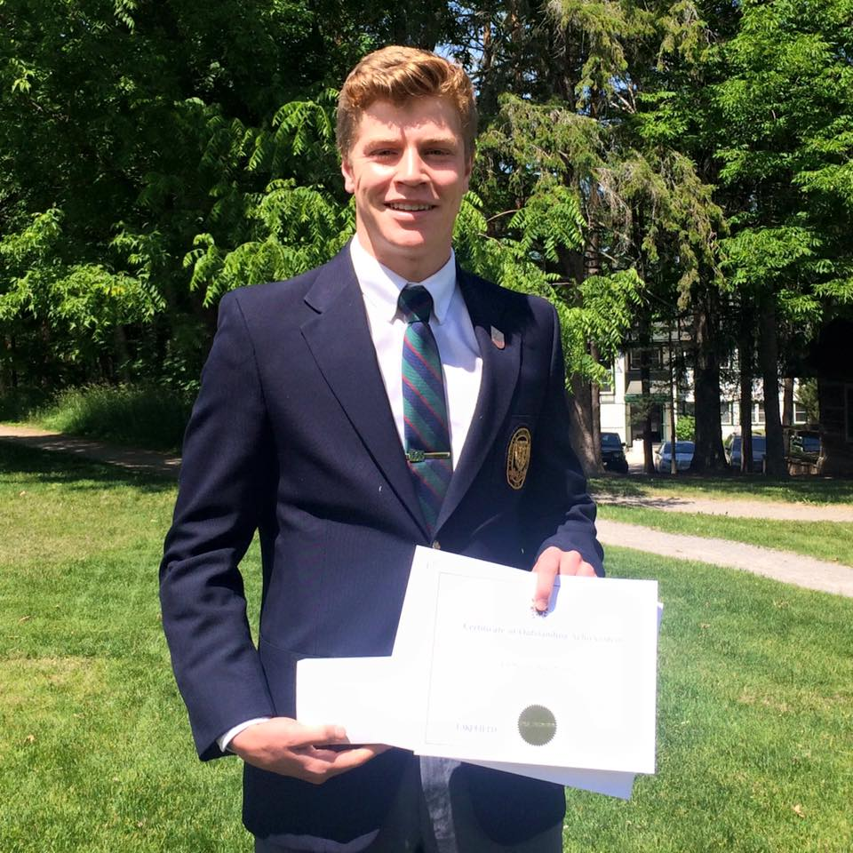 At graduation, LCS student Cameron Maltman received the Governor General's medal with a 99% average. He now attends Harvard University.