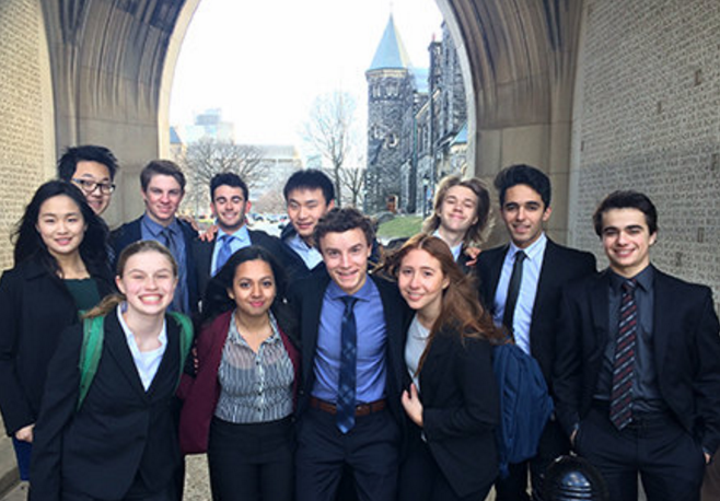 LCS's debate team visits the University of Toronto for a Model UN event