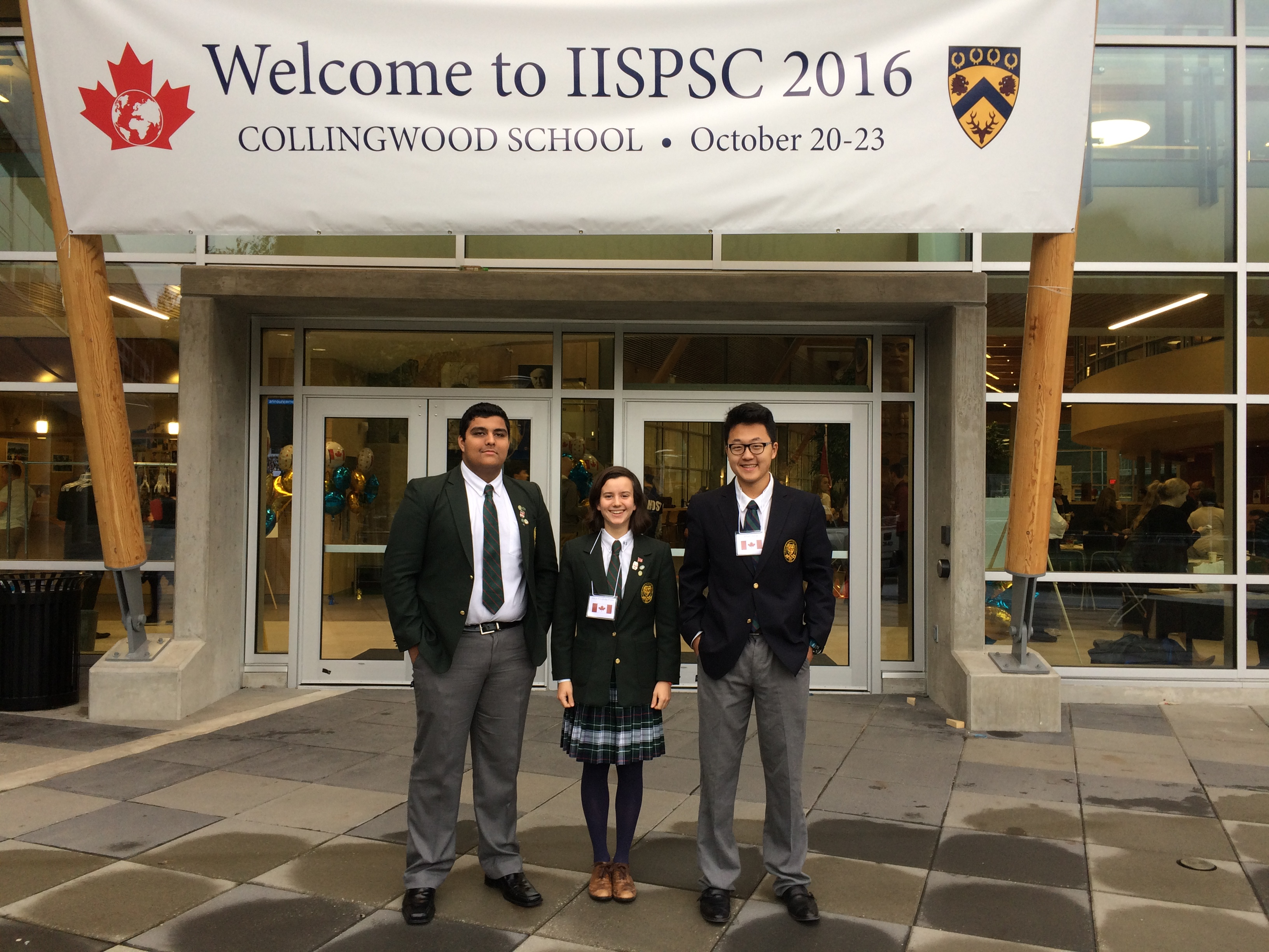 Proud members of the LCS senior debate team at the International Independent School Public Speaking in Vancouver, BC