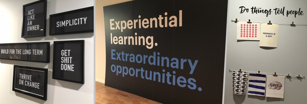 Shopify Inc. decorates its walls with words to inspire and motivate its employees